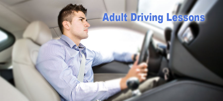 Adult driving lesson